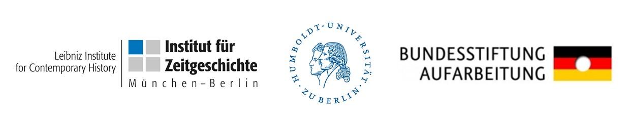 Logoleiste BKKK: Institut für Zeitgeschichte (IfZ), Humboldt-Universität zu Berlin (HU), Bundesstiftung zur Aufarbeitung der SED-Diktatur